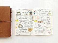 """265 Likes, 1 Comments - Elisa T (@greenpaperleaf) on Instagram: """"My week 9 's spread is rather messy. ※ I wish everyone good morning and a wonderful day ahead ❤️ .…"""""""