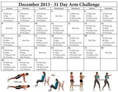 28 day arms challenge  weight loss/sculpting pins
