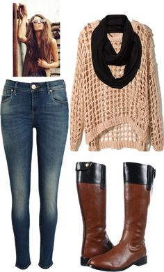 """crochet sweater"" by sagravel on Polyvore"
