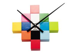 love this colorful clocks by karlsson