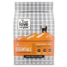 """""""I and love and you"""" Naked Essentials Chicken & Duck Grain Free Dry Cat Food, Lb, packaging may vary - Cat store galore Canned Cat Food, Dry Cat Food, Duck Recipes, Dog Food Recipes, Lactobacillus Reuteri, Grain Free Cat Food, Prebiotics And Probiotics, Food Net"""