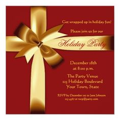 Holiday Gift Wrap Party Invitation