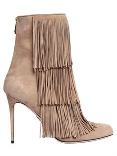 PAUL ANDREW - 95MM TAOS FRINGED SUEDE BOOTS - LUISAVIAROMA - LUXURY SHOPPING WORLDWIDE SHIPPING - FLORENCE