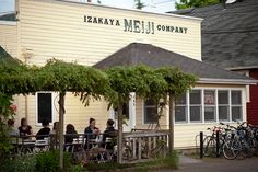 Izakaya Meiji Company serves up a great mix of authentic Japanese food and country-western whiskey. The Sunday special is one burger, one bourbon and one beerall for $10.Located at 345 Van Buren Street
