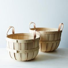 Half Bushel & Peck Baskets: Hold everything from a bushel to a peck. #food52