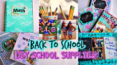 DIY SCHOOL SUPPLIES + ROOM DECOR | Back to School 2014! LOVED THE LACE NOTEBOOK!!! I really wanna try that!!