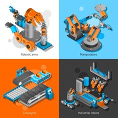 Industrial Robot Set