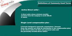 """Know how +Strategy India interprets """"Active Direct Seller"""" and """"Single Level Compensation Plans"""". For detailed information visit us @ www.strategyindia.com  #directselling #singlelevelcompensationplans"""