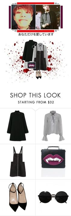 """""""~7~"""" by hey-panda-girl ❤ liked on Polyvore featuring Universal, Chloé, Saloni, H&M, Current Mood, Christian Louboutin and Versace"""