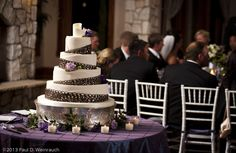 Gorgeous #wedding #cake at Cielo Castle Pines venue! http://www.cielocastlepines.com/ - ©2013 Paul D. Weinrauch