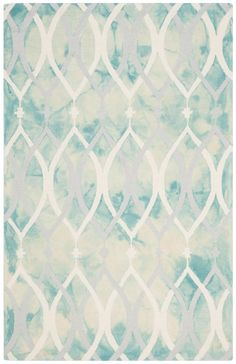 DDY534Q Rug from Dip Dye collection.  An alluring interplay of color and texture distinguishes Dip-Dyed rugs by Safavieh as one-of-a-kind works of art for your floor. Each rug is hand-tufted of wool and dyed twice to produce motifs in striking gradations of color against a solid ground.