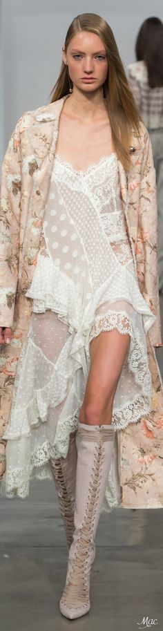 Lounging & day-dreaming sans boots ~ Cortigiana Spring 2017 Ready-to-Wear Zimmermann