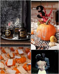 Love the table numbers and guest name cards for a fall wedding