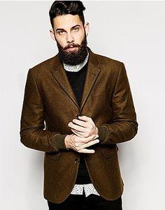 ASOS Blazers, Price: GBP 70.00, ASOS Slim Fit Blazer With Rib Cuffs