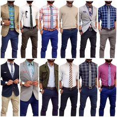 More patterns, more color, a couple of blazers and a sweater moment. Casual Wear, Casual Outfits, Men Casual, Look Fashion, Mens Fashion, Fashion Outfits, Style Masculin, Men Street, Men Style Tips