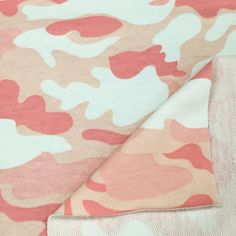 100% Cotton Cameo Print French Terry Knit Fabric By the Yard (Wholesale Price Available By the Bolt) USA Made - 6015C2 - 1 Yard