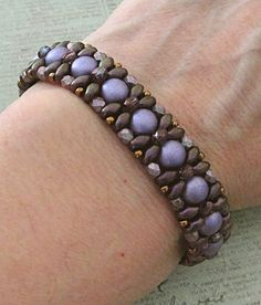 Linda's Crafty Inspirations: Bracelet of the Day: Demoiselle Bracelet - Purple