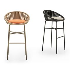 Ideas For Kitchen Bar Chairs Woven Bar Stools, Bar Stool Chairs, Counter Height Bar Stools, Oak Chairs, Industrial Bar Stools, Swivel Counter Stools, Dining Chairs, High Top Table Kitchen, Kitchen Stools