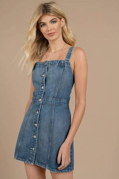 26f59ec59f8 Boyish Jeans Boyish Jeans The Kennedy Dark Wash Button Down Denim Dress  Button Down Denim Dress