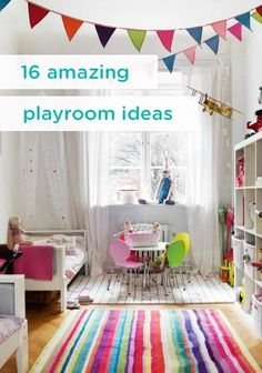 These 16 awesome playroom ideas will make you feel like a kid again. From DIY and art ideas to how to convert a nursery or bedroom into a playroom, your kids will love their new space. Playroom Design, Playroom Decor, Kids Decor, Playroom Ideas, Basement Ideas, Home Decor, Montessori Toddler Bedroom, Toddler Playroom, Cozy Corner