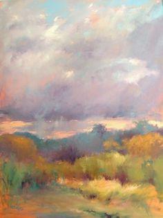Sunset Storm by Madeline Dukes Oil ~ x Landscape Artwork, Landscape Drawings, Watercolor Landscape, Oil Pastel Landscape, Painting & Drawing, Watercolor Paintings, Pastel Paintings, Horse Paintings, Knife Painting