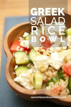 Greek Salad Rice Bowl (AD) CelebrateMinuteRice @MinuteRiceUS