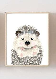 Baby animals : raccoon, moose, hedgehog, rabbit Lets make your little ones room warm and enjoyable! This baby animal art prints collection features a set of 4 prints from my watercolor art collection. If, however, youd like to swap any of them for a different piece in my shop, please
