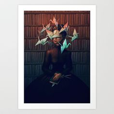 Library Lady Art Print by Marija Tiurina - $18.72
