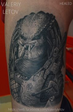 predator tattoo by ValeriyLetov