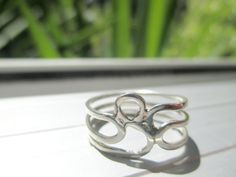 Sterling Silver 3 Band Ring by Picossa on Etsy 3 Band Rings, Handmade Jewelry, Unique Jewelry, Handmade Gifts, Silver Rings, Wedding Rings, Engagement Rings, Sterling Silver, Etsy