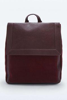 Plum Suede Pocket Backpack