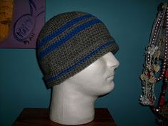 Need to make for my dad. Men's beanie free pattern.