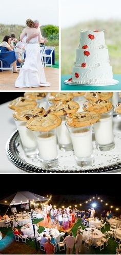 relaxed beach wedding - cookies and milk at end of the night