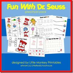Fun With Dr Seuss preschool pack