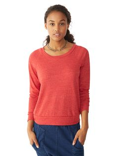 Stylish Basic Sweatshirt made with Eco Friendly, Organic and Recycled fabrics. Around $40