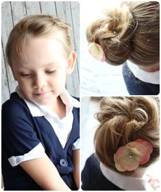 Pleasing Kid Buns And Children On Pinterest Short Hairstyles Gunalazisus