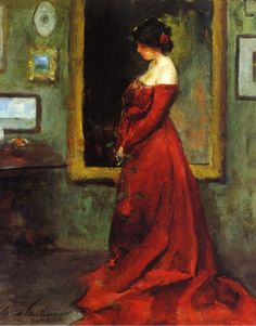 Charles Webster Hawthorne - The Red Gown