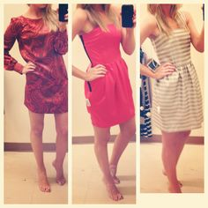 Trying to decide which dress to wear to a wedding next weekend