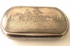 Rare Solid Silver Enamel Niello Austrian Table Snuff box Jauner Hedwig c1874 #JaunerHedwig