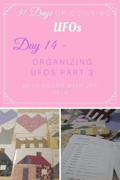 Organizing UFOs part 3
