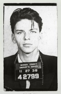 Bergen County Sheriff's Office, Hackensack, New Jersey- Sinatra was charged with Seduction. Disposition was marked, 'Dismissed.'