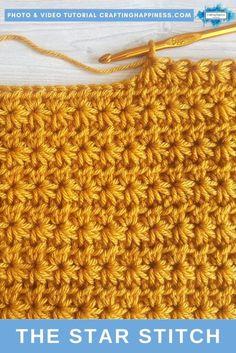 Pixel Crochet, Crochet Quilt, Baby Blanket Crochet, Crochet Motif, Crochet Baby, Crochet Stitches For Beginners, Crochet Stitches Patterns, Crochet Basics, Crochet Star Stitch