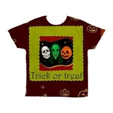 Trick or Treat Kids All Over Print T-Shirt