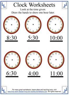 Counting One To Ten: Math Practice | Worksheets Clock Worksheets, 4th Grade Math Worksheets, Shapes Worksheets, Free Printable Worksheets, Worksheets For Kids, Time Word Problems, Learn To Tell Time, Time To The Hour, Reading Wonders