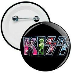 L028 - Botons e Chaveiros - Kiss - Wathsapp: (61) 9 9129-7213