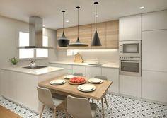 32 Open Concept Kitchen Room Design Ideas for Dummies - homemisuwur Open Plan Kitchen Living Room, Kitchen Room Design, Kitchen Cabinet Design, Modern Kitchen Design, Home Decor Kitchen, Kitchen Layout, Interior Design Kitchen, Home Kitchens, Concept Design Interior