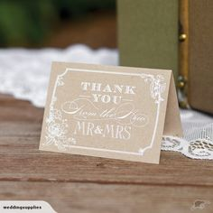50 x Wedding Thank You Cards Mr and Mrs Rustic | Trade Me