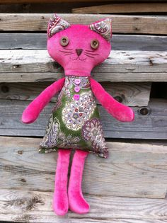 cat toy teddy cat pretty toy  fun toy cat girl toy by MySweetToys, $150.00