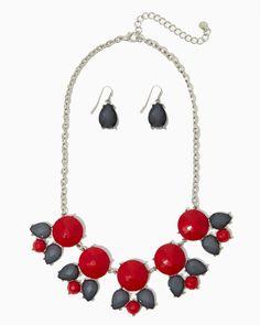charming charlie | Blossom Bib Necklace Set | UPC: 410006968271 #charmingcharlie