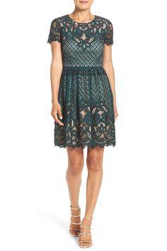 Lace Fit & Flare Dress (Regular & Petite) by Eliza J on @nordstrom_rack